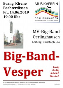 Konzert 2019-06-14 Big-Band Vesper - Plakat